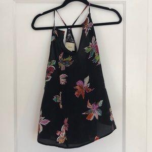 Maeve silk floral print top
